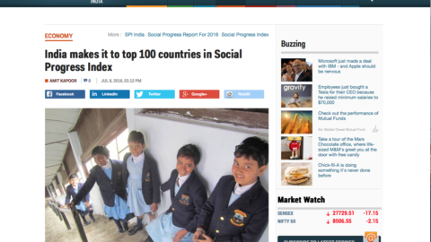 India makes it to top 100 countries in Social Progress Index