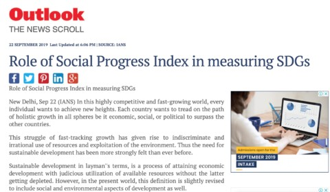 Role of Social Progress Index in measuring SDG's